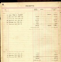 Image of American Warehouse Co. Cash Book sample page