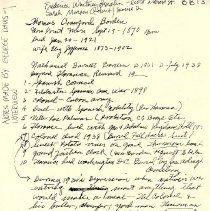 Image of Davis notes