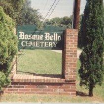 Image of Bosque Bello Cemetery 1994 - Print, Photographic
