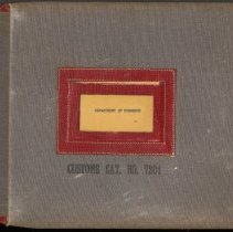 Image of Dept. of Commerce.  Customs Catalog No. 7201. - Ledger