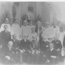 Image of St Peter's Church Clergy, Wardens,and Vestrymen at Easter 1901 - Print, Photographic
