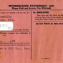Image of Nassau Fertilizer & Oil Co., Inc. correspondence - Statement, Financial