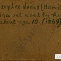 Image of Mary Lee Jones' China set  - Box