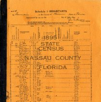 Image of 1895 State Census Nassau County Florida - Book