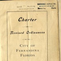Image of Charter and Revised Ordinances of the City of Fernandina Florida, 1924 - Charter