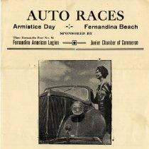 Image of Auto Races--Armistice Day--Fernandina Beach - Program