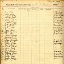 Image of Record of prisoners Delivered to Nassau Co Jail