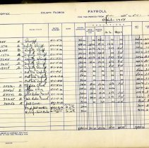 Image of Payroll.  Nassau County Sheriff's Office.  1957 to 1964. - Ledger