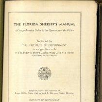 Image of Florida Sheriff's Manual.1947. - Ledger