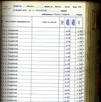 Image of Expense Reports.  Nassau County Sheriff's Office.  1940-1944. - Ledger