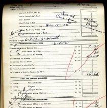 Image of Criminal Case Records Expense Report.  Nassau County Sheriff. - Ledger