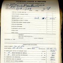 Image of Criminal Case and Records.  Nassau County Sheriff. - Ledger