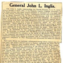 Image of General John L. Inglis - Newspaper