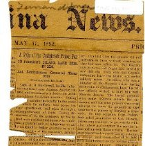Image of newspaper clipping