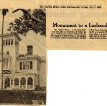 Image of Monument to a husband's folly - Newspaper