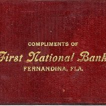 "Image of Personal notebook ""Compliments of First National Bank, Fernandina, Fla."" - Notepad"