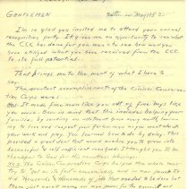 "Image of ""Recognition Day"" Speech Manuscript