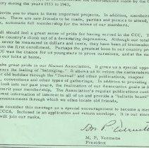 Image of NACCCA member recruitment letter, part 2