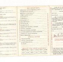 Image of Lasserre Boy Scout Card