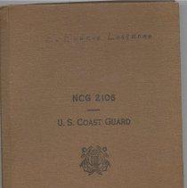 Image of Diary, Eugene Lasserre, NCG 2106, US Coast Guard. - Diary