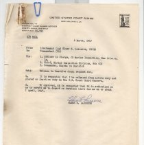Image of Letter requesting separation from active duty - Letter