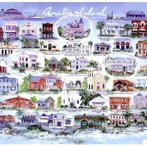 Image of Fernandina Beach - Amelia Island: A Quaint, historic victorian town with 13 miles of unspoiled beaches and a 1, 300 acre state park. - Poster