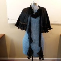 Image of A black evening cape