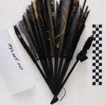 Image of A black cloth fan - Fan, Hand