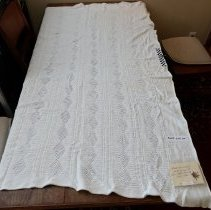 Image of Coverlet, White cotton - Coverlet