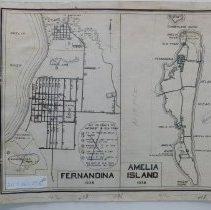 Image of 1938 Map of Amelia Island and Fernandina