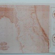 Image of Florida American Revolution Bicentennial Map 1976 - Map