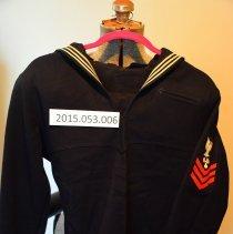Image of Lasserre WW 2 blue uniform jumper - Uniform, Military