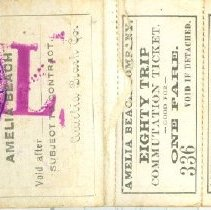 Image of Inside front cover Amelia Beach ticket book