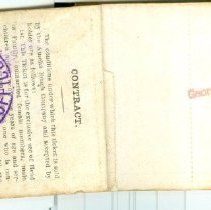 Image of Inside back cover of Amelia Beach ticket book