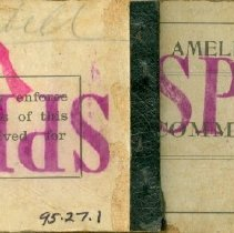 Image of Front/back of Amelia Beach ticket book