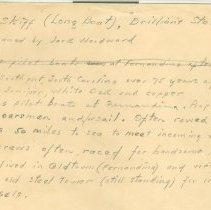 "Image of Pilot Skiff (Long Boat), ""Brilliant Star"" [in pencil] Pilot's skiffs. [typed] - Manuscript"