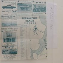 Image of 1962 Map of Fernandina Beach by the Chamber of Commerce