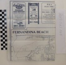 Image of 1986 Map of Fernandina Beach by the Chamber of Commerce