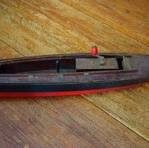 Image of Two wooden model boats - Boat