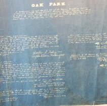 Image of 1938 Map of Proposed Oak Park Subdivision