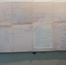 Image of Right of way map for County Road 105 - 1948 - Map