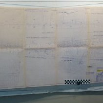 Image of Right of way map for County Road 105 - 1951 - Map