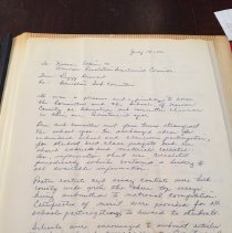 Image of Peggy Dennard Letter 1