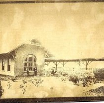 Image of Railroad depot in Fernandina, Florida - Print, Photographic