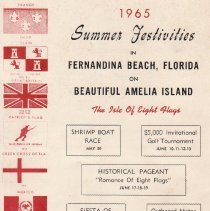 Image of Brochure cover 1965 summer festivities Fernandina Beach