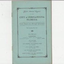 Image of City of Fernandina Florida Fourth Annual Report - Report, Annual