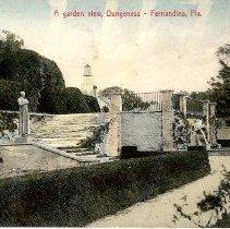 Image of A Garden View, Dungeness -- Fernandina, Fla. - Postcard, Picture