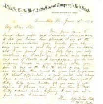 Image of Letter from W.P. Wylly to his son - Letter