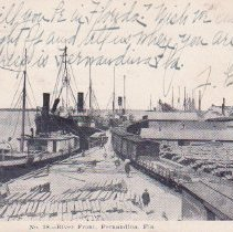 Image of River Front, Fernandina, Fla. - Postcard, Picture