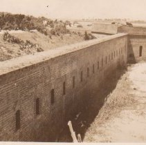 Image of View of fortress, Fort Clinch - Postcard, Picture